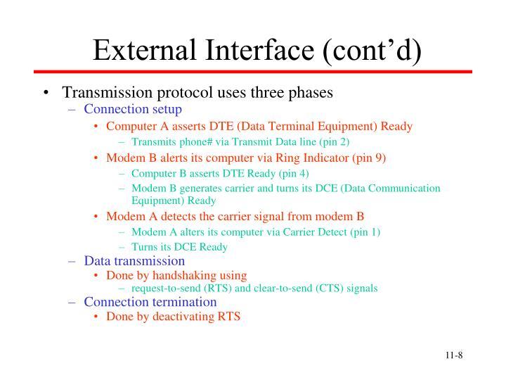 External Interface (cont'd)