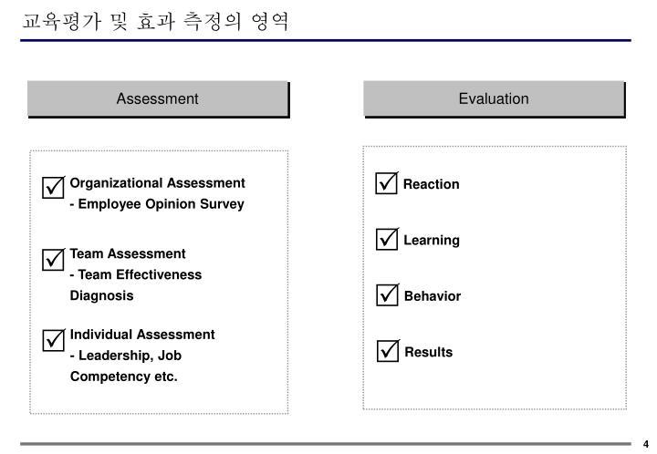 교육평가 및 효과 측정의 영역