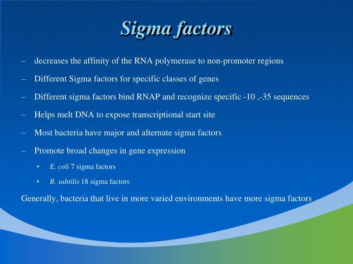 Sigma factors