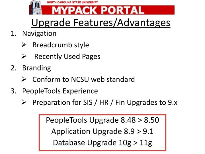 upgrade features advantages n.