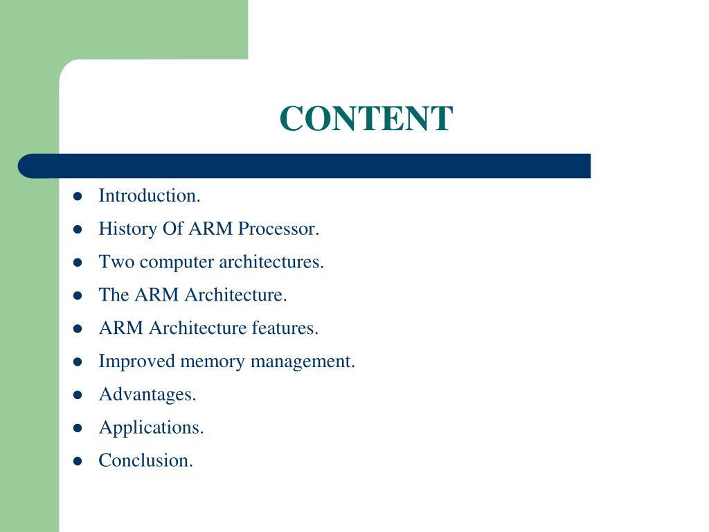 PPT - SEMINAR ON ARM PROCESSOR PowerPoint Presentation - ID:5752907