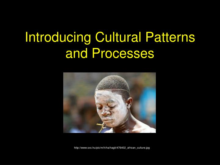 introducing cultural patterns and processes n.