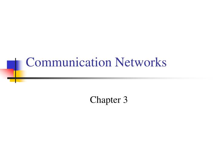 communication networks n.