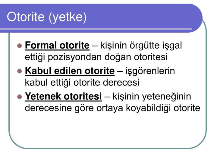 Otorite (yetke)