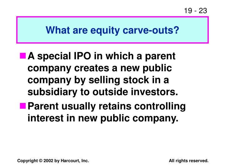 What are equity carve-outs?