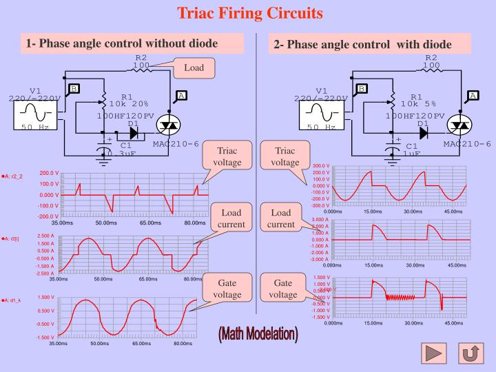 Triac Firing Circuits