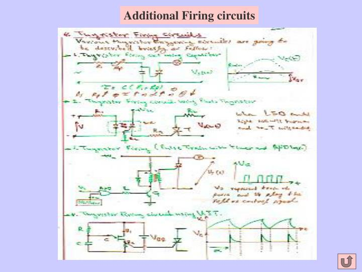 Additional Firing circuits