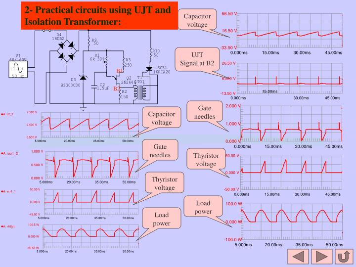 2- Practical circuits using UJT and