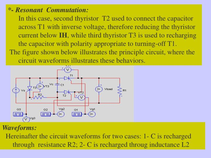 *- Resonant  Commutation: