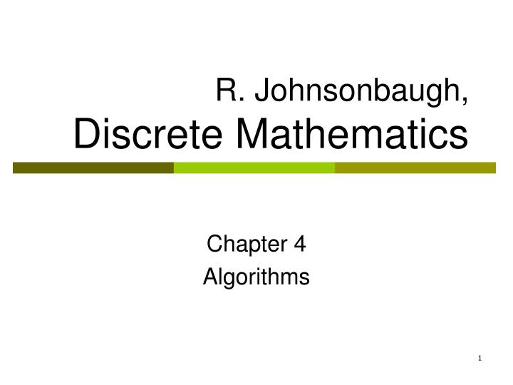 r johnsonbaugh discrete mathematics n.