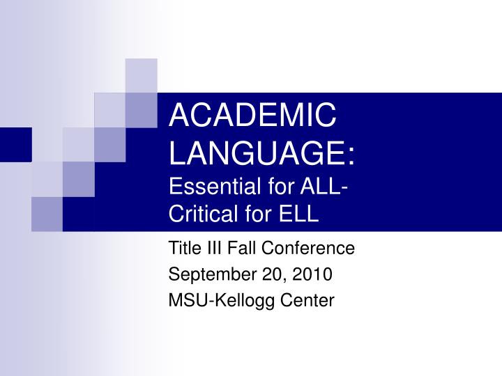 academic language essential for all critical for ell n.