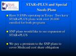star plus and special needs plans