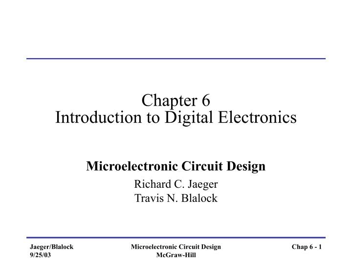 chapter 6 introduction to digital electronics n.