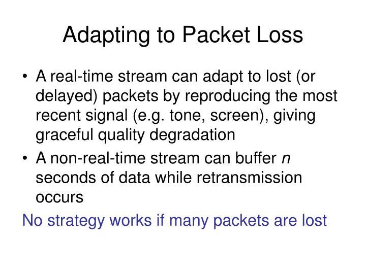 Adapting to Packet Loss