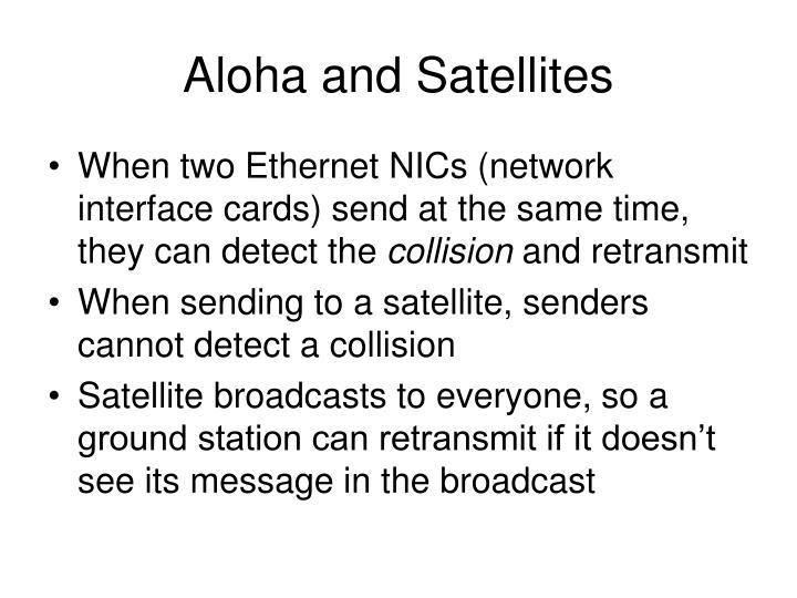 Aloha and Satellites