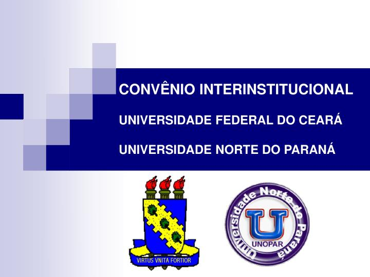 conv nio interinstitucional universidade federal do cear universidade norte do paran n.