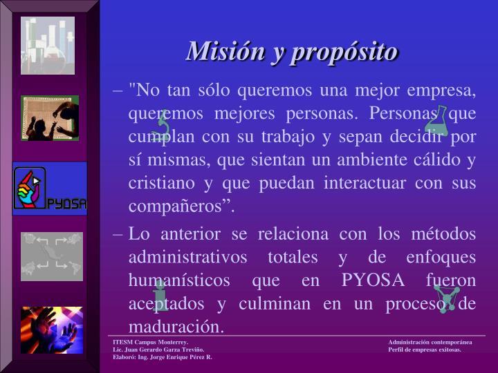 Misión y propósito