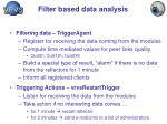 filter based data analysis