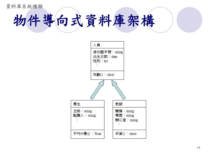 資料庫系統種類