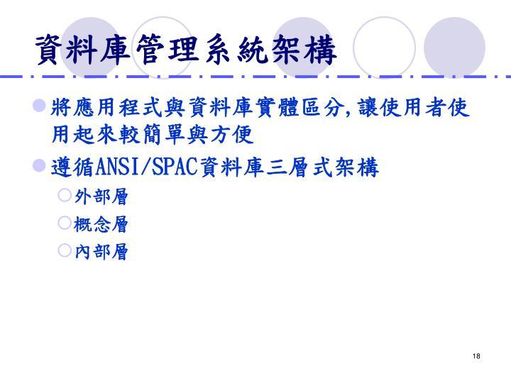 資料庫管理系統架構