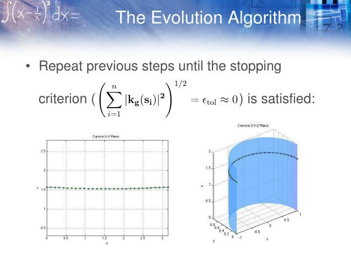 The Evolution Algorithm