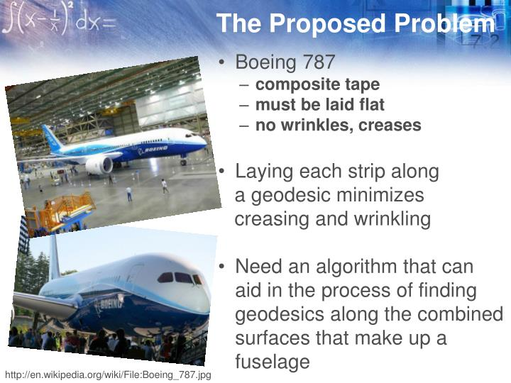 The proposed problem