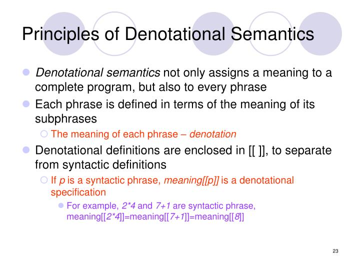 PPT - Programming Languages and Design Lecture 3 Semantic ...