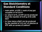 gas stoichiometry at standard conditions