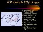 ibm wearable pc prototype 1 2