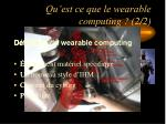 qu est ce que le wearable computing 2 2