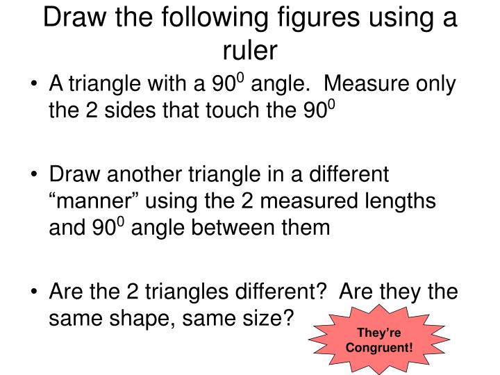 Draw the following figures using a ruler