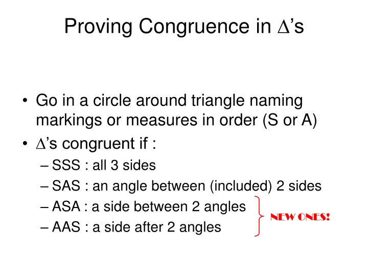 Proving Congruence in