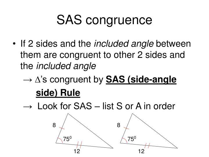 SAS congruence