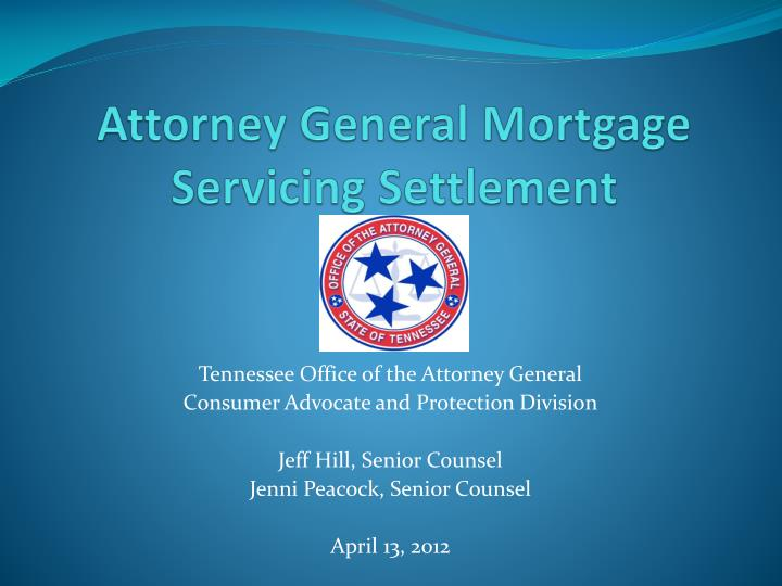 attorney general mortgage servicing settlement n.