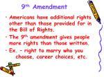 9 th amendment