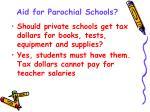 aid for parochial schools