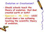 evolution or creationism