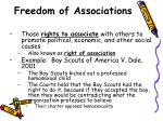 freedom of associations