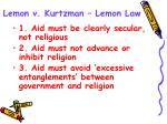 lemon v kurtzman lemon law