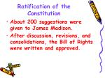ratification of the constitution1