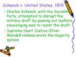 schenck v united states 1919