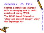 schenck v us 1919