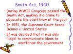 smith act 1940