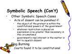symbolic speech con t