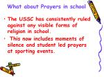 what about prayers in school1