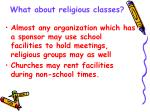 what about religious classes