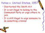 yates v united states 1957
