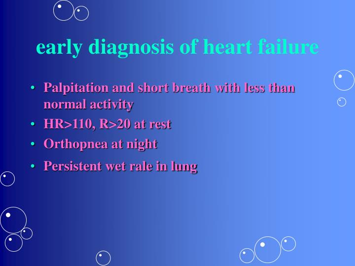 early diagnosis of heart failure