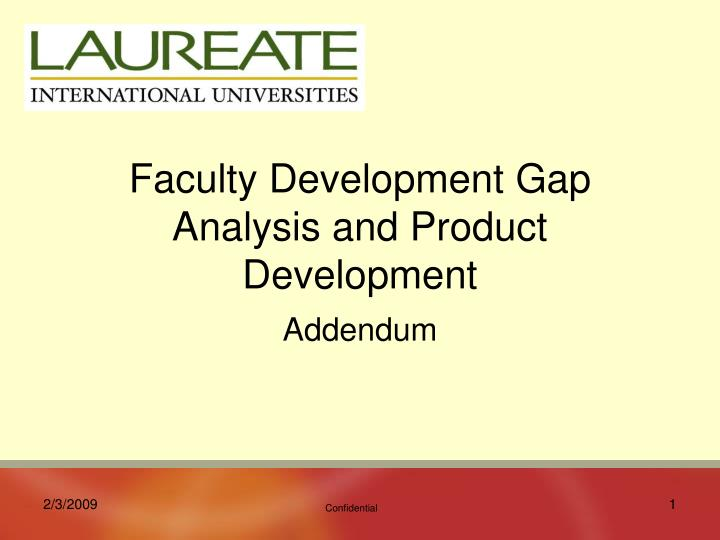 faculty development gap analysis and product development n.