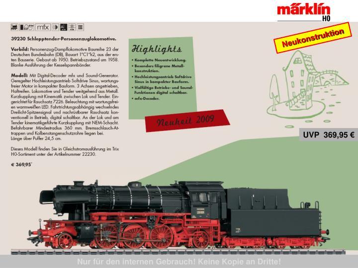 39230 Personenzug-Dampflokomotive, BR 23, DB, Ep. III